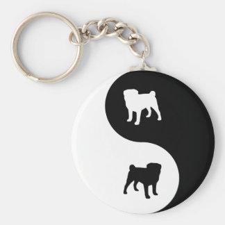 Pug Yin Yang Key Chains