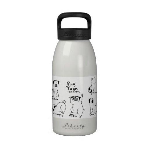 Pug Yoga Drinking Bottles