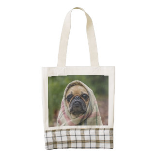Pug Zazzle HEART Tote Bag