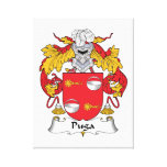Puga Family Crest Stretched Canvas Print