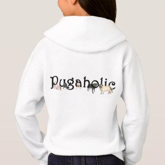Pugaholic Girl's Pullover Hoodie