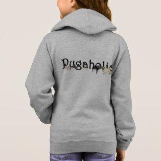 Pugaholic Girl's Zip Hoodie