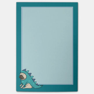 """Pugasaurus is """"Done"""" Post-it Notes"""