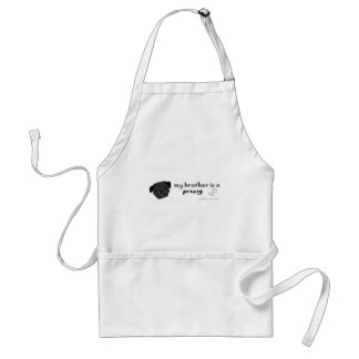 PugBlackBrother Adult Apron