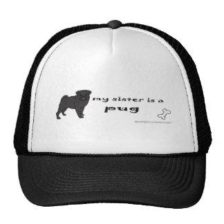 PugBlackFullBodySister Mesh Hats