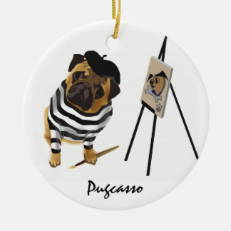 Pugcasso Ornament