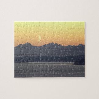 Puget Sound Moonset Jigsaw Puzzle