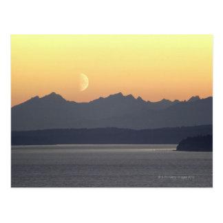Puget Sound Moonset Postcard