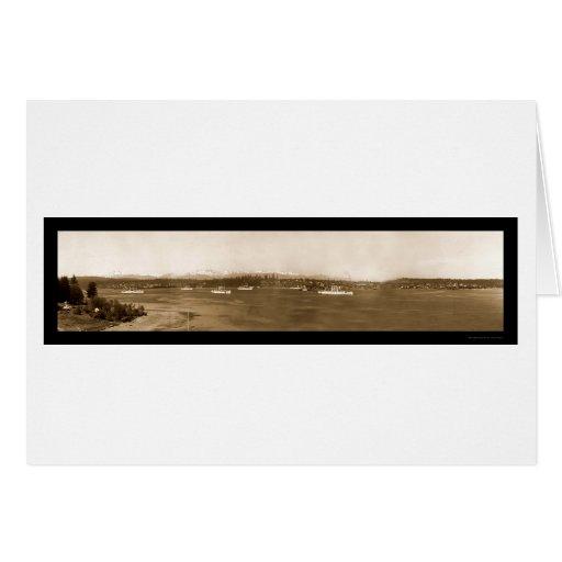 Puget Sound Navy Photo 1908 Card