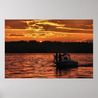 Puget Sound Sunset Poster