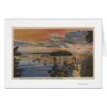 Puget Sound, WA - Yacht Club Moorings at Sunset Cards