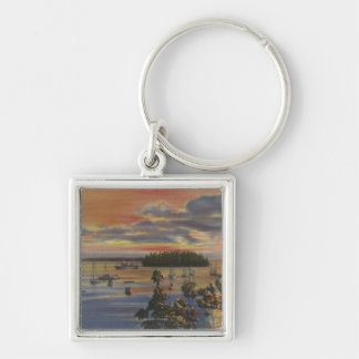 Puget Sound, WA - Yacht Club Moorings at Sunset Key Chains
