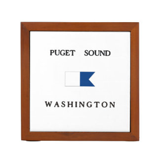 Puget Sound Washington Alpha Dive Flag Desk Organizers