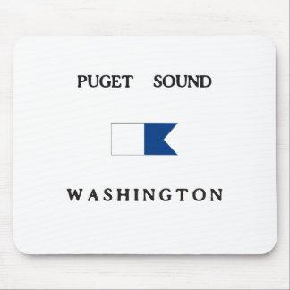 Puget Sound Washington Alpha Dive Flag Mouse Pad