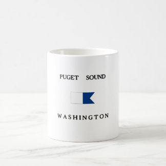 Puget Sound Washington Alpha Dive Flag Mugs