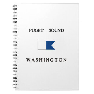 Puget Sound Washington Alpha Dive Flag Spiral Notebooks