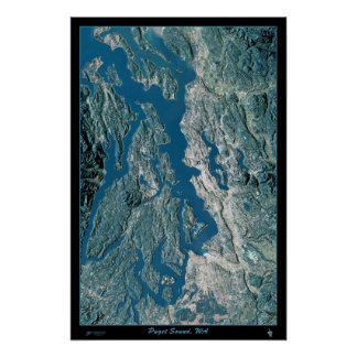 Puget Sound, Washington satellite poster