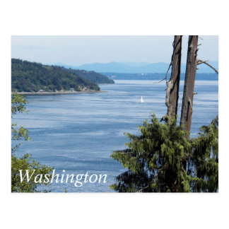 Puget Sound, Washington Travel Photo Postcard