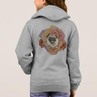 PugFlower Girl's Fleece Zip Hoodie
