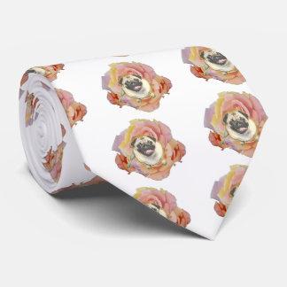PugFlower Tie