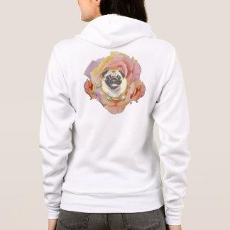 PugFlower Women's Zip Hoodie