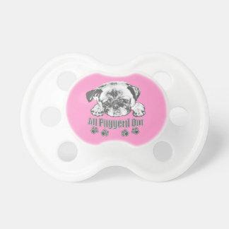 Puggerd out pug pacifier