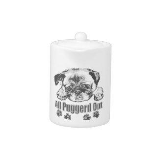 Puggerd out pug teapot