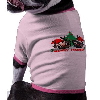 Puggie Ringer T-Shirt Pet Tee Shirt
