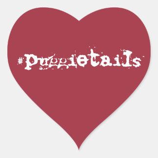 puggietails heart sticker