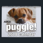 "Puggle! 2018 Calendar<br><div class=""desc"">This is the official Puggle! 2018 Calendar,  benefiting ASPCA! Photos are chosen by the 36, 000  fans of the official Puggle! page on Facebook. *LIKE* us to get regular updates of adorable puggle pictures in your newsfeed daily! www.facebook.com/PuggleDog</div>"