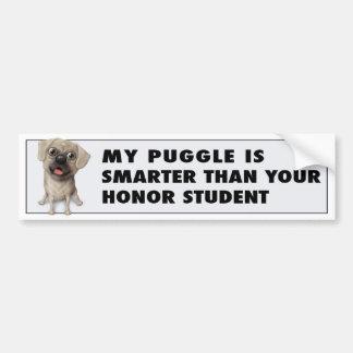 Puggle 2 - Honor Student Bumper Sticker