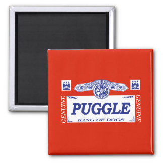 Puggle 2 Inch Square Magnet