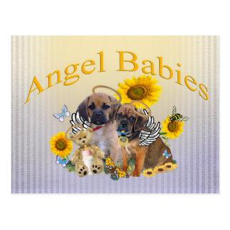 Puggle Angel Baby  Postcards