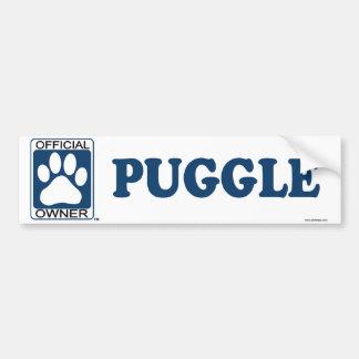 Puggle Blue Bumper Sticker