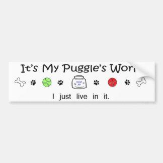 puggle bumper sticker