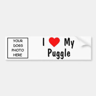 Puggle Etiqueta De Parachoque