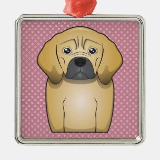 Puggle Cartoon Metal Ornament