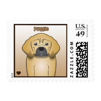 Puggle Cartoon Postage