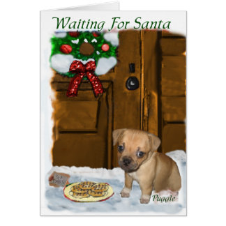 Puggle Christmas Gifts Greeting Card