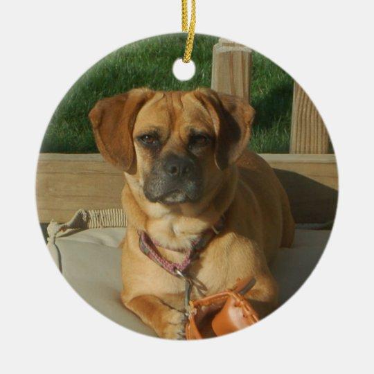 Puggle Christmas Ornament | Zazzle.com
