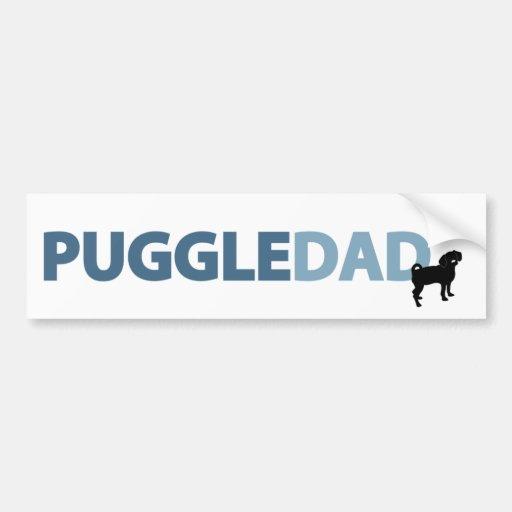 Puggle Dad Car Bumper Sticker
