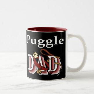 Puggle Dad Gifts Two-Tone Coffee Mug