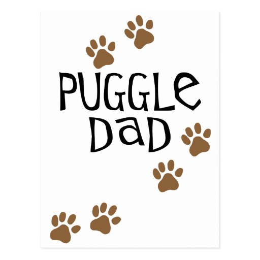 Puggle Dad Post Cards