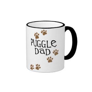 Puggle Dad Ringer Coffee Mug