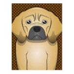 Puggle Dog Cartoon Paws Post Card