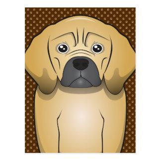 Puggle Dog Cartoon Paws Postcard