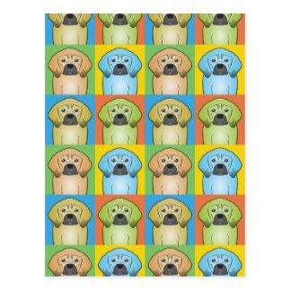 Puggle Dog Cartoon Pop-Art Postcard