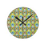 Puggle Dog Cartoon Pop-Art Round Clocks