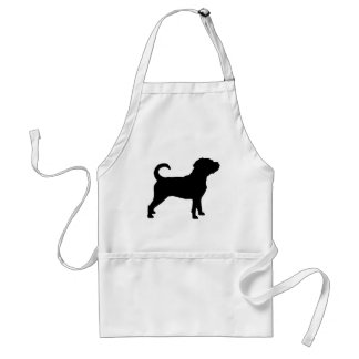 Puggle Dog Silhouette Aprons