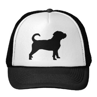 Puggle Dog Silhouette Mesh Hat
